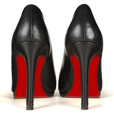 Amazon.com: Sole-Glo Women\u0026#39;s DIY High Heel Red Color Bottom ...