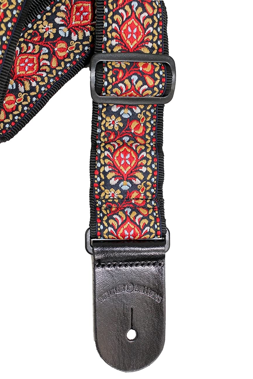 Walker & Williams H-21 Mandala Woven 60's Style Hootenanny Hippie Guitar Strap 4