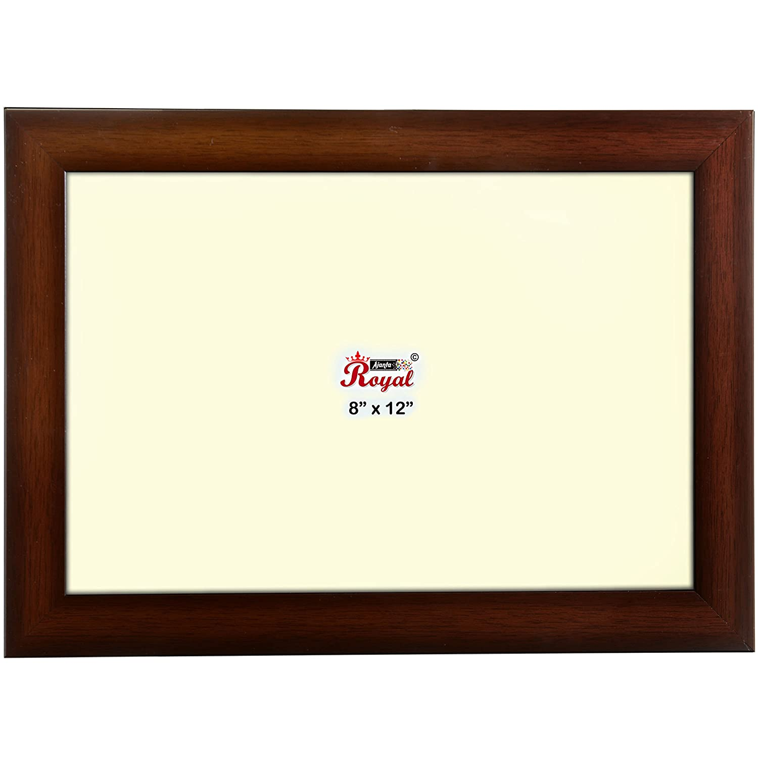 ajanta royal classic 8 x 12 photo frame insert brown sandal wood