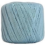 Threadart 100% Pure Cotton Crochet Thread - SIZE 3 - Color 19 - LT BLUE -2 sizes 27 colors available (Color: LT BLUE, Tamaño: SIZE 3 SINGLE)
