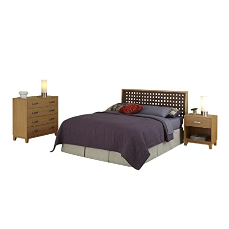 Home Styles 5517-5016 The Rave Full/Queen Headboard, Night Stand and Chest Set