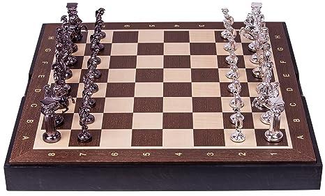 Jeu d'echecs ROMAIN - SILVER EDITION SQ - Échiquier & Pièces d'échecs