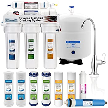 5 Stage Reverse Osmosis System with 4 Water Filters
