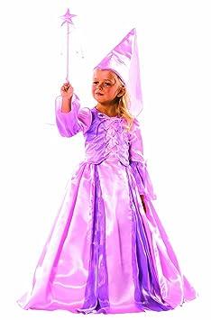 Cesar - B081-003 - Costume - Fée avec Hennin et Baguette - Rose - 8/10 ans