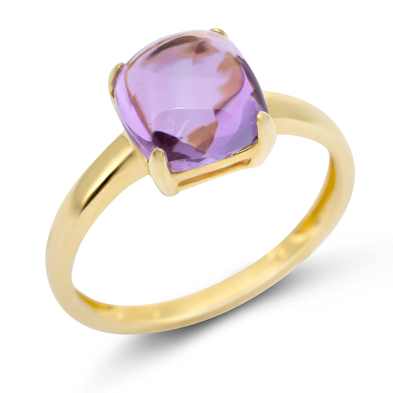 Miore Damen Ring 9 Karat (375) Gelbgold Amethyst
