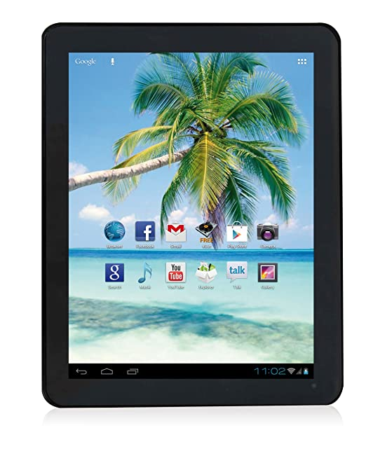 Easypix EasyPad 972 24,6 cm (9,7'') Tablette Tactile (ARM Cortex A9 DualCore, 1,6GHz, 1Go RAM, 8Go HDD, Android) Noir (Import Europe)