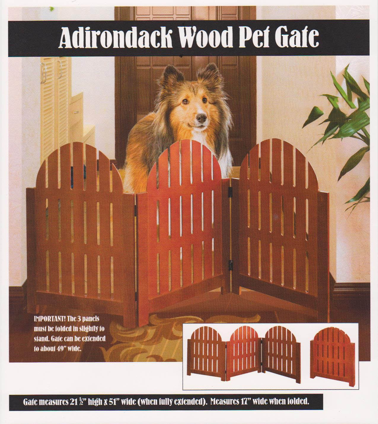Zebra Pet Gate Pet Gate Walnut