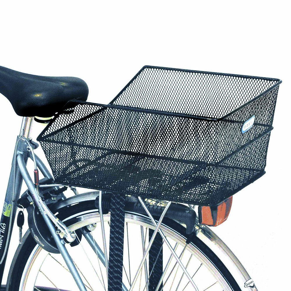 Bikes With Baskets In The Back Basil Cento Rear Basket Black