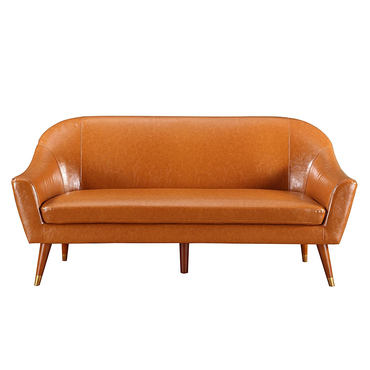 Divano Roma Furniture - Mid Century Modern Sofa - Bonded Leather 1