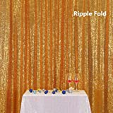 PartyDelight Sequin Backdrop 4FTX6.5Ft Gold for Wedding Curtain, Party, Photo Booth. (Color: Gold, Tamaño: 4X6.5)