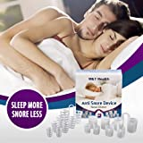 Anti Snoring Devices - Set of 8 Premium Nose Vents for Ease Breathing - Anti Snore Solution - Snore Stopper Sleep Aid - Anti Snoring Device Nasal Dilators - Stop Snoring for Men and Women
