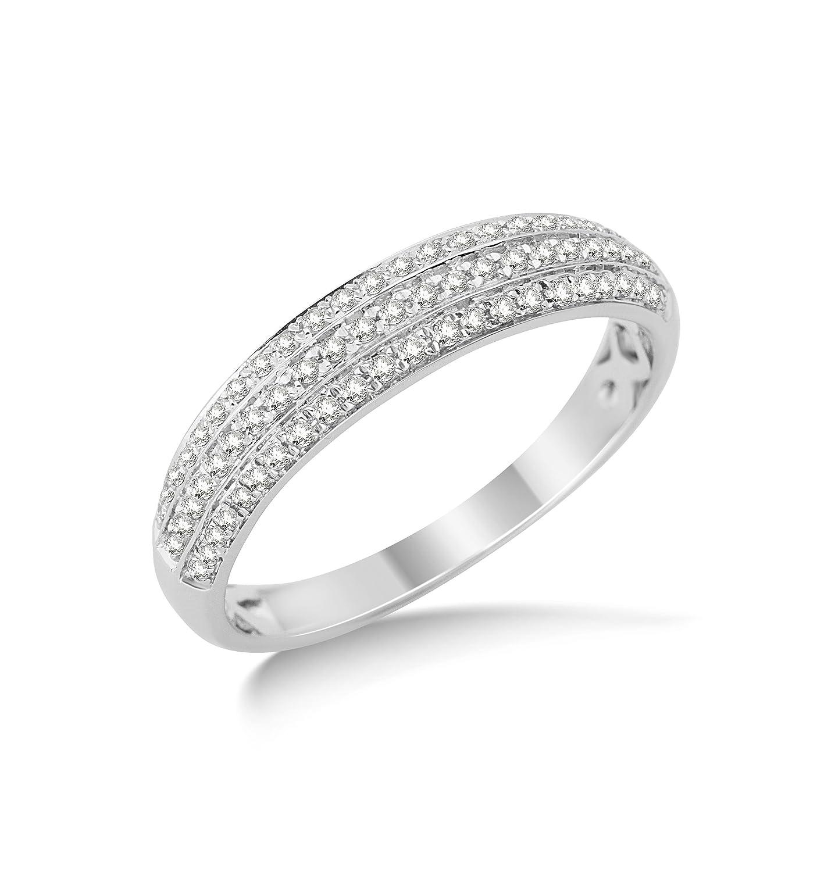 Miore Damen-Ring 9 Karat (375) Weißgold Diamant günstig online kaufen