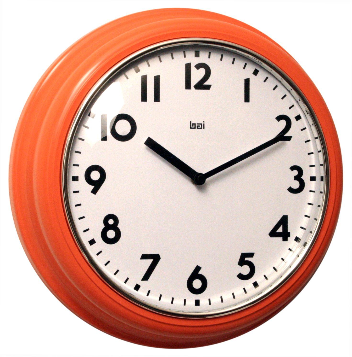Bai School Wall Clock Orange