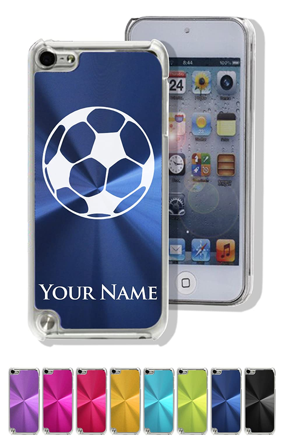 Personalized Case/Cover for iPod Touch 5 - SOCCER BALL - Engraved for FREE cute 3d rilakkuma bear jelly silicone cover for ipod touch 6 touch 5 red