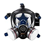 Holulo Organic Vapor Full Face Safety Respirator Mask Respiratory Protection Gas Masks Paint  Chemical Formaldehyde Anti Virus Full w/Activated Carbon Respirator (Color: Style-4, Tamaño: Mask)