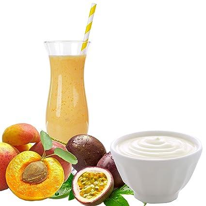 Joghurt Pfirsich Maracuja Geschmack Proteinpulver Vegan mit 90% reinem Protein Eiweiß L-Carnitin angereichert fur Proteinshakes Eiweißshakes Aspartamfrei (10 kg)