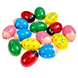 Wooden Maracas Egg Percussion Shakers 15 pieces