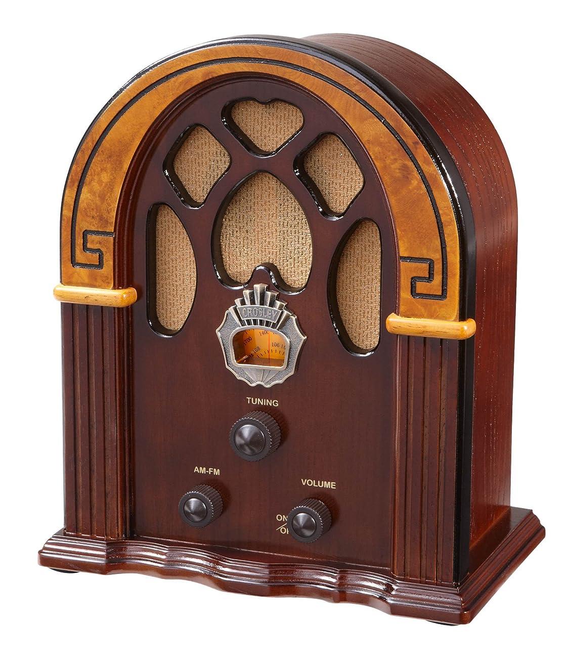 Crosley CR31-WA Companion Retro AM/FM Radio with Full-Range Speaker, Walnut & Burl 0