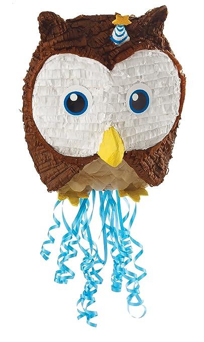 Owl Blue Pull-String Piñata