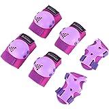 Bosoner Kids/Youth Rollerblade Roller Skates Cycling Knee Pads Elbow Pads (Purple, Medium(6-15 years)) (Color: Purple, Tamaño: Medium(6-15 years))