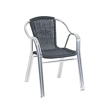 3 greemotion 427674 paris chaise chaise de bistro en aluminium et osier 56 56 x 60 x 79. Black Bedroom Furniture Sets. Home Design Ideas