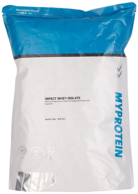 Myprotein Impact Whey Isolate Protein White Chocolate, 1er Pack (1 x 2.5 kg)