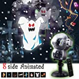 JEESA Christmas Projector Lights, Outdoor Christmas Decorations Music Snow Animated Projector with Remote Control LED Snowfall Hallowee Projector Decorative Lighting for Holiday Party Home Yard Garde (Color: Multicolor)