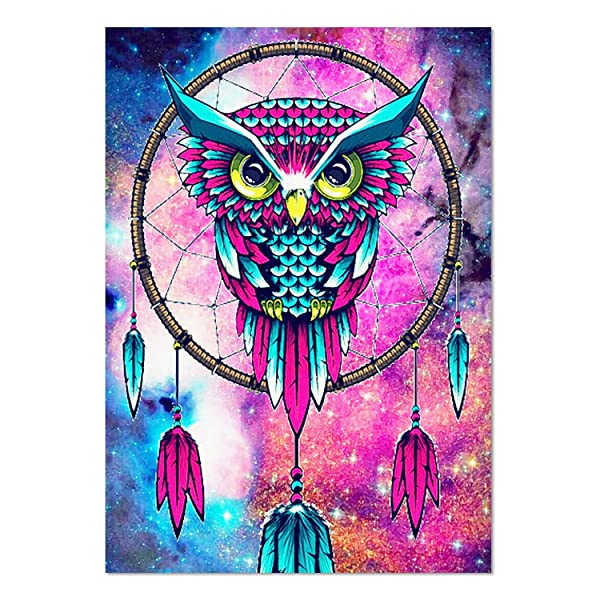 Full Drill DIY Rhinestone Embroidery Cross Stitch Arts Craft for Home Wall Decor 5D Diamond Painting Kit Angel and Devil 12x16inch