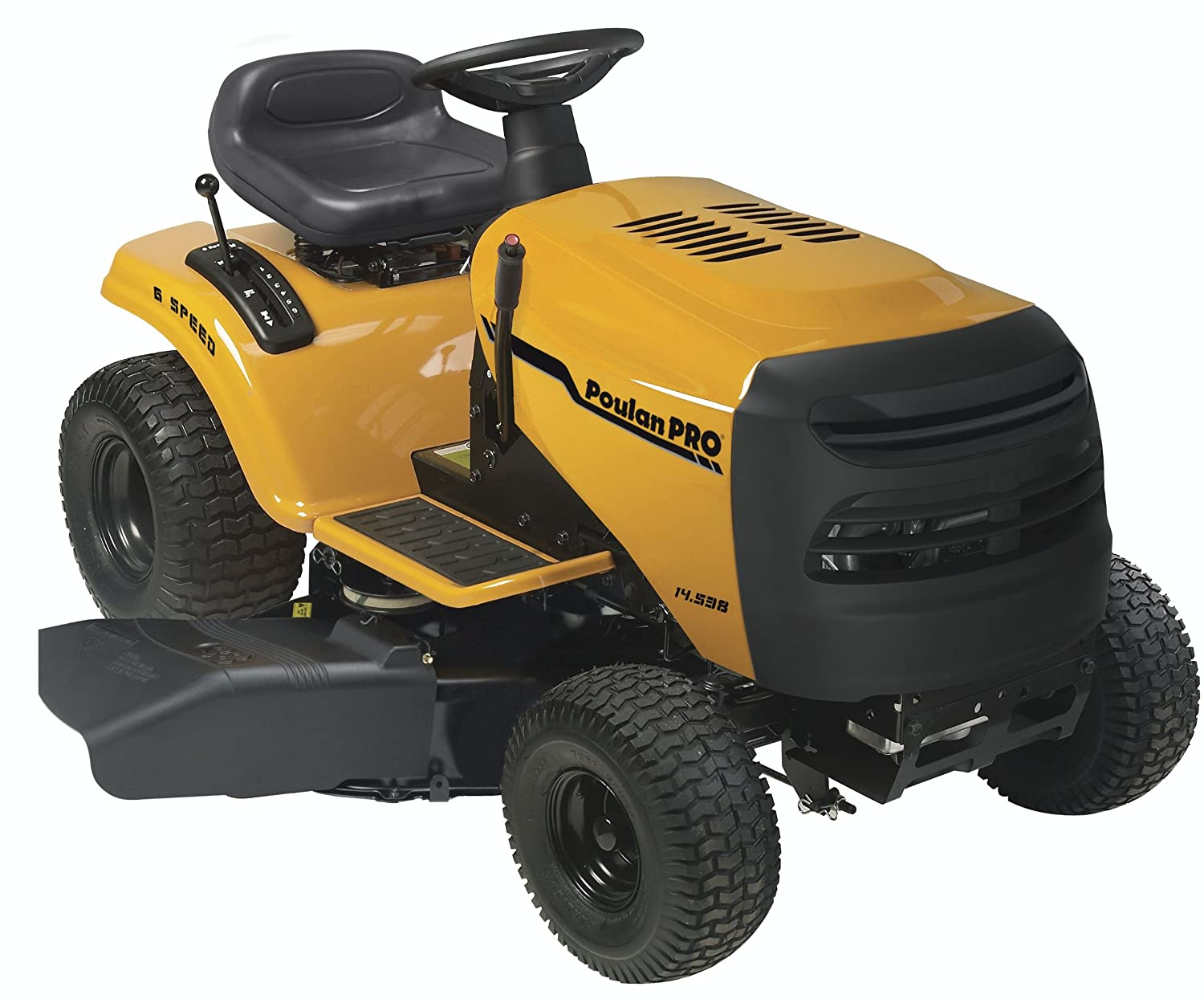 Poulan Pro PB145G38 6-Speed Lawn Tractor, 38-Inch