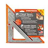 2-Pack Speed Square Layout Tools (Color: Silver/Orange, Tamaño: 7-Inch and 8-Inch)