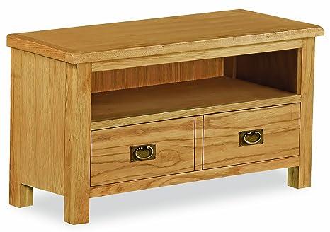 Roseland Furniture Lanner - Mueble para televisión, tamaño pequeño, madera de roble