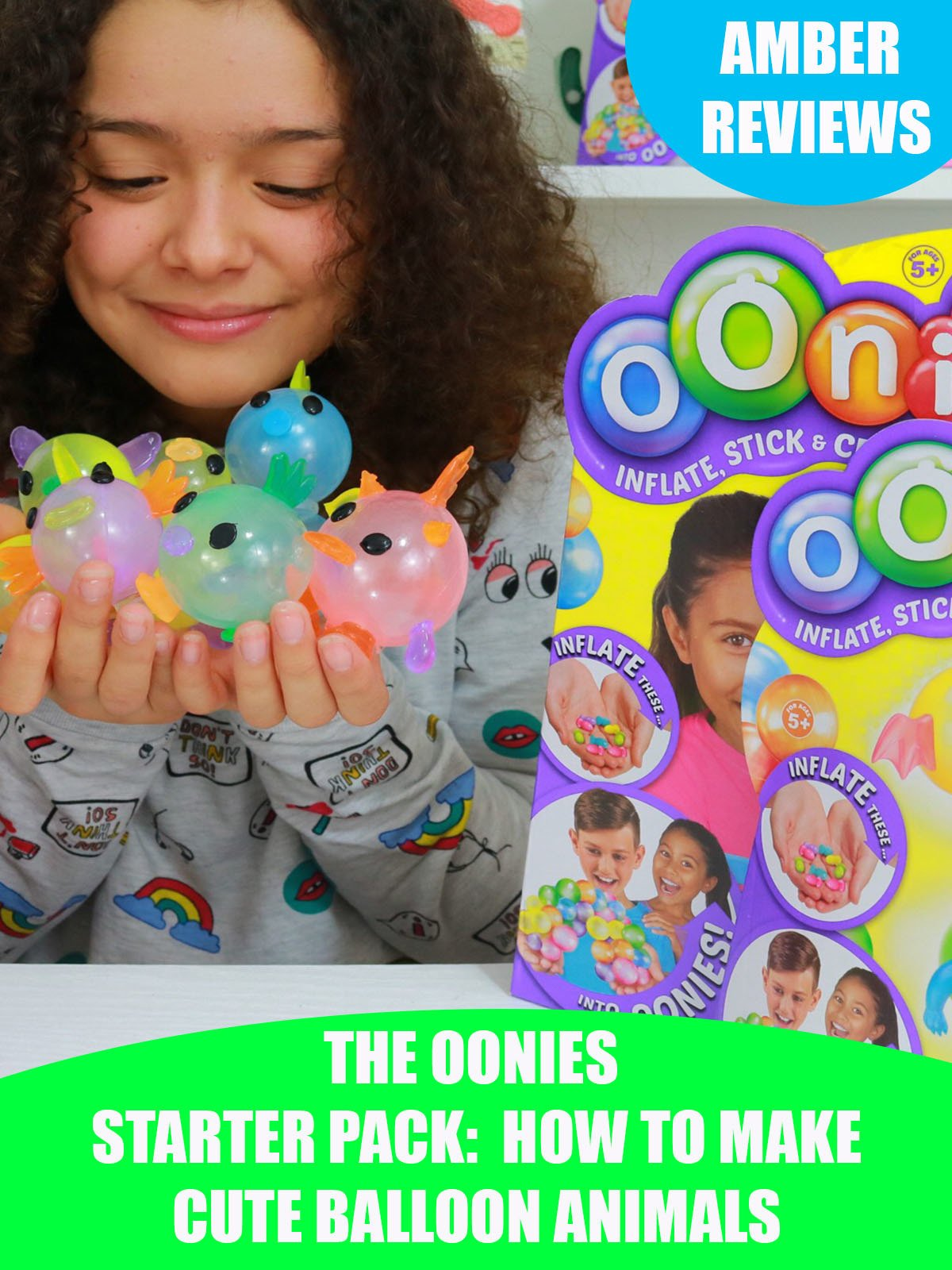 Amber Reviews Oonies Starter Pack How to Make Cute Balloon Animals