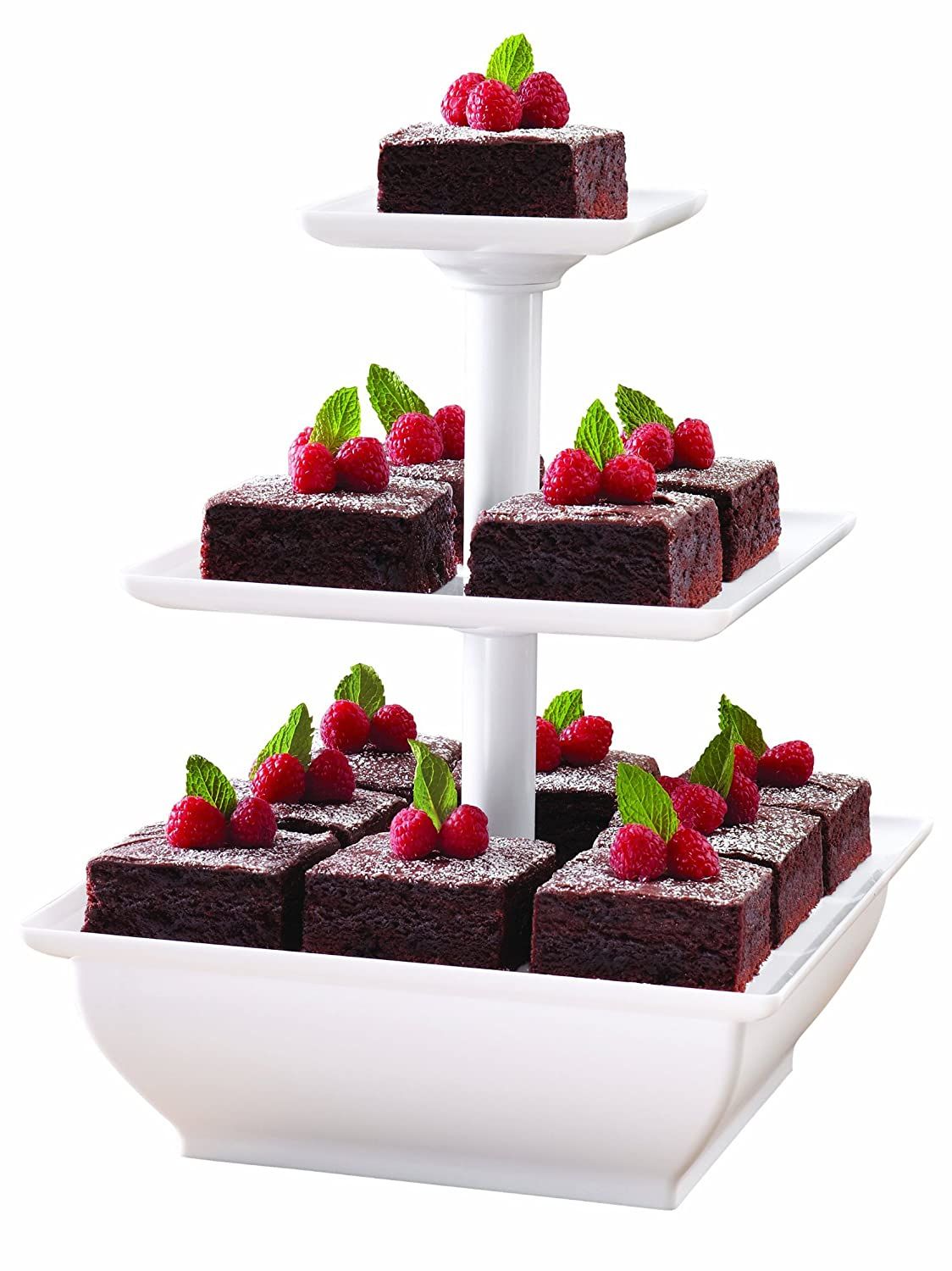 new tiered dessert cupcake tower 3 plate holder tier party snack cake stand ebay. Black Bedroom Furniture Sets. Home Design Ideas