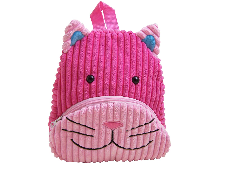 Sassafras CuddlePack Corduroy Backpack, Cat