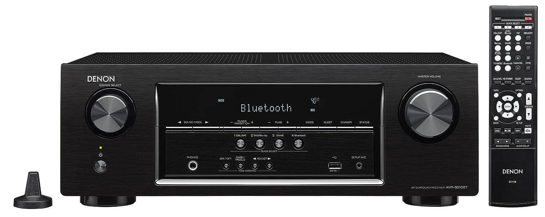 Denon AVRS510BT-R Refurbished 5.2 Channel Full 4K Ultra HD A/V Receiver with Bluetooth (Black)