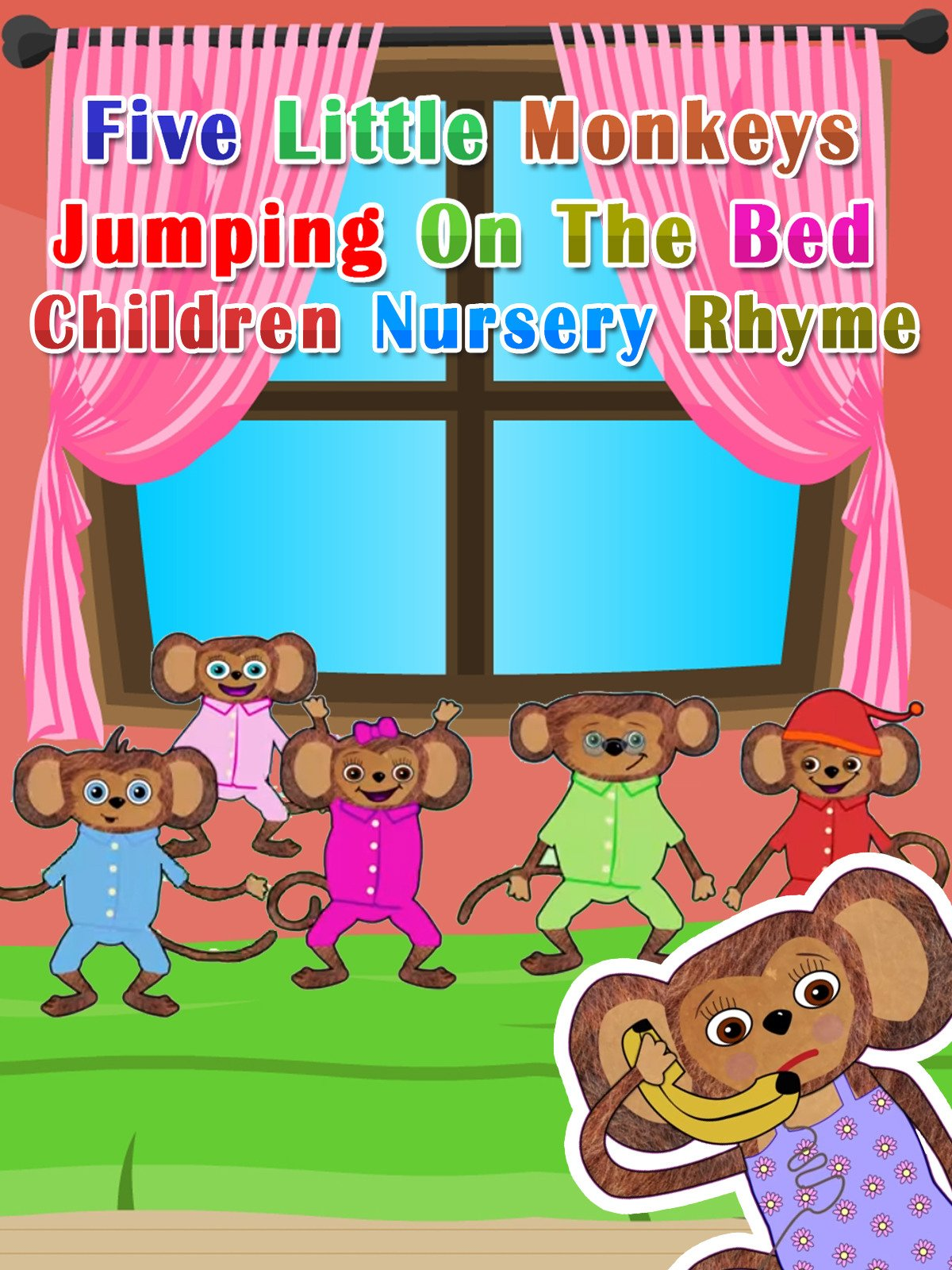 Five Little Monkeys Jumping On The Bed Children Nursery Rhyme on Amazon Prime Video UK