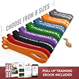 Pull Up Assistance Resistance Exercise Bands - by Functional Fitness | Loop Workout Bands for Stretching, Powerlifting (Color: Single - #5 Green - 50-120 Lbs (23-54 kg), Tamaño: Single Bands)