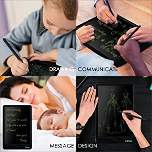 Back to School Season, LCD Writing Tablet, i-star 10 inches Lock Electronic Drawing Painting Board, Paper-Free, Portable Doodle Handwriting Notepad Gi