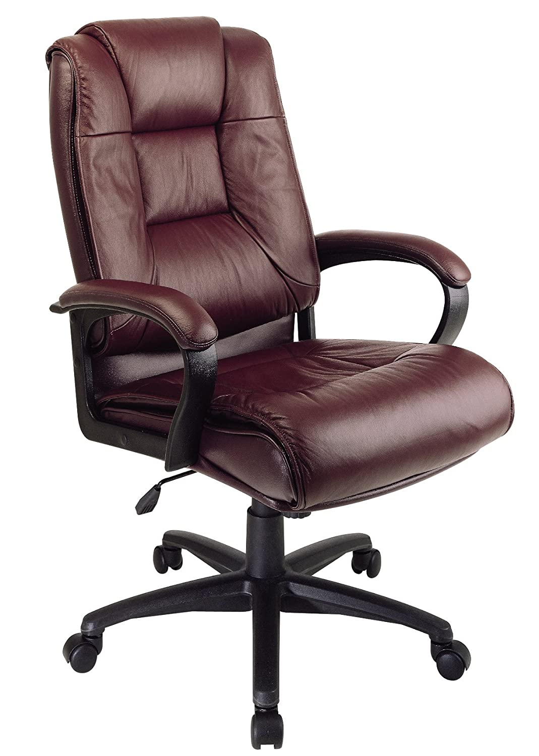 Office Star EX5162-4 Leather High-Back Office Chair, Burgundy