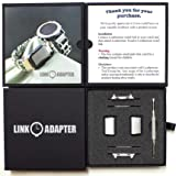 Link- watch adapter compatible with LEATHERMAN TREAD - Stainless Steel (compatible with Apple watch 44mm/ 42mm, Stainless Steel, TREAD) (Color: TREAD, Tamaño: Apple watch 44mm/42mm)