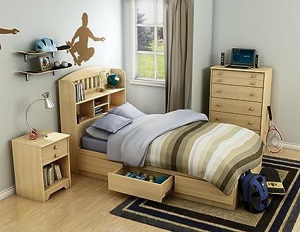 Newton Twin 4 Piece Bedroom Set in Natual Maple