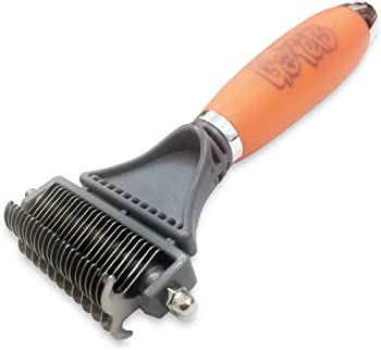 GoPets Dematting Comb with 2 Sided Professional Grooming Rake