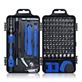 Gocheer Screwdriver Set,115 in 1 Magnetic Screwdriver Bit Set,Mini Precision Magnetic Hand Work Repairing Tools with Case For Iphone,PC,Watch,Laptop,Glasses,Electronics,Jewelers