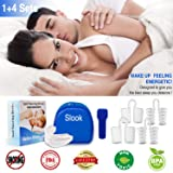 Snoring Solution Stop Snoring Mouthpiece, 4 Set Anti Snoring Nose Vents Nasal Dilators Nose Cones Snore Reduction Snore Stopper Nose Plugs Sleep AIDS Stop Snoring Devices for Men and Women (Color: White)