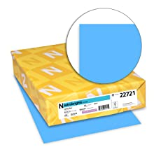 Neenah Astrobrights Premium Color Card Stock, 65 lb, 8.5 x 11 Inches, 250 Sheets, Lunar Blue