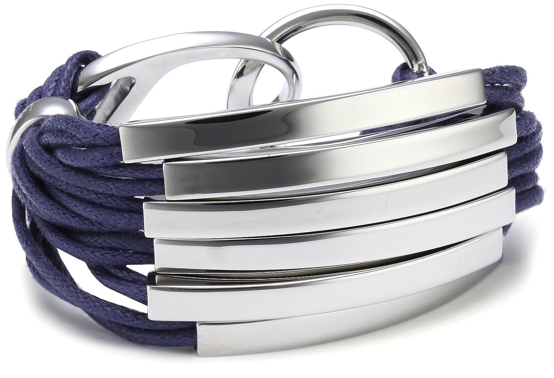 Joop Damen-Armband Edelstahl Construction Baumwolle blau gewachst ca. 19.5 cm JPBR10310C195 jetzt kaufen