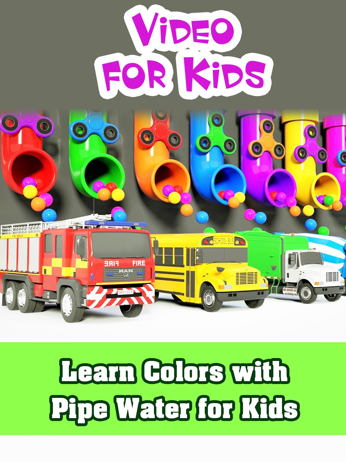 Learn Colors with Pipe Water for Kids