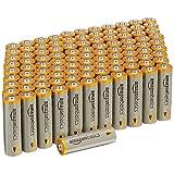 AmazonBasics AA Performance Alkaline Batteries (100-Pack) (Color: Grey, Tamaño: Pack of 100)