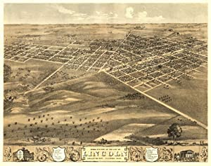 Lincoln, Illinois Panoramic Map