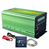 EDECOA Power Inverter Pure Sine Wave 1000W DC 12V to 110V AC with LCD Display and Remote Controller for Car